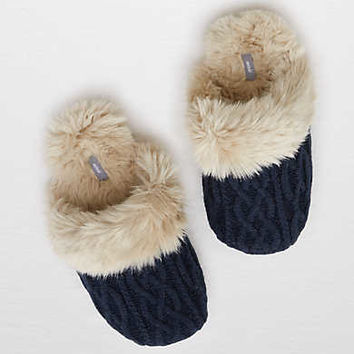 Aerie Cozy Sweater Slipper , Navy