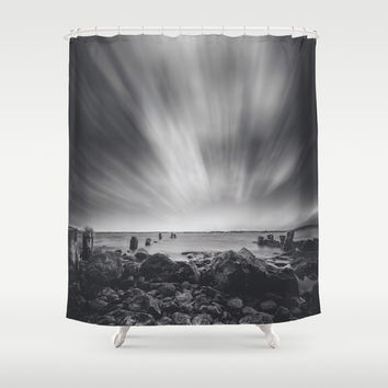 Pebble Shower Curtain by HappyMelvin