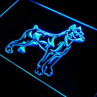 j633 Pit Bull DogTerrier Pet Shop Bar LED Neon Light Sign On/ Off Switch 7 colors DHL
