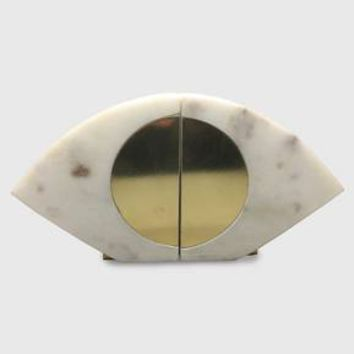 Marble & Gold Eye Bookend Set of 2 - Project 62™