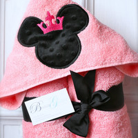 Hooded Towel, Bath, Beach, Pool - Princess Mouse