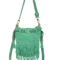 Cute Mint Green Handbag - Fringe Bag - $48.00