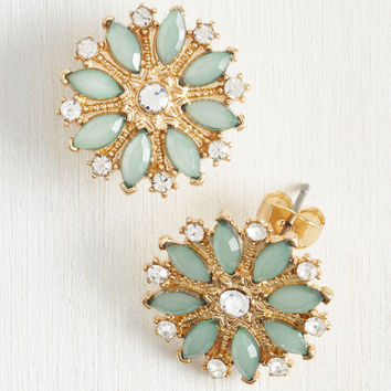 Sparkles Fleur You Earrings | Mod Retro Vintage Earrings | ModCloth.com