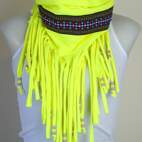 Festival Fringe Scarf | One-of-a-Kind | Good Vibes Collection