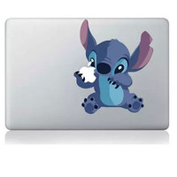 Hot Sell Stitch DIY Personality Vinyl Decal Laptop Sticker for macbook Pro Air 13 inch Cartoon laptop Skin shell for mac book