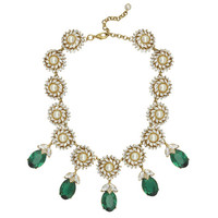 Ciner Sophie Emerald Crystal Drop Pearl Necklace | SOPHIESCLOSET.COM | Designer Jewelry & Accessories
