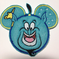 Genie Embroidered Applique Mouse Ear Patch Disney's Aladdin Inspired