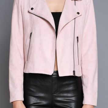 Dusty Rose Moto Jacket