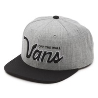 Vans Verdugo Snapback Hat (Heather Grey/Black)