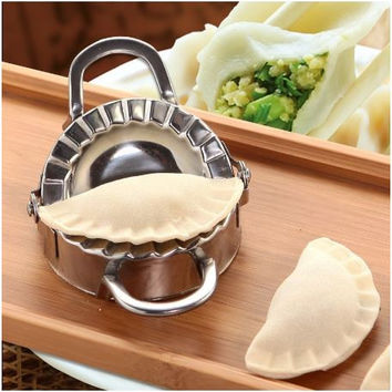New Eco-Friendly Pastry Tools Stainless Steel Dumpling Maker Wraper Dough Cutter Pie Ravioli Dumpling Mould Kitchen Accessories