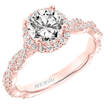 "Artcarved ""Gianna"" Twist Shank Diamond Engagement Ring"