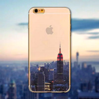 "Beautiful City New York Transparent Hard Case Cover For Apple iPhone 6 6s / 6 Plus "" FREE SHIPPING """