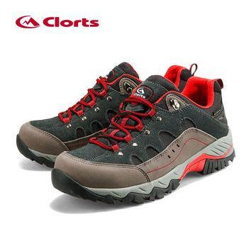 Outdoor Hiking Boots Clorts Suede Leather Climbing Shoes Men Waterproof Mountain Hiking Shoes HKL-815