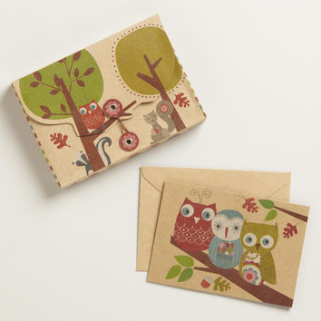 Krafty Owl Notecards, Set of 10 | World Market