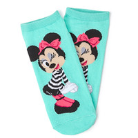FOREVER 21 Cheeky Minnie Mouse Socks Mint/Multi One
