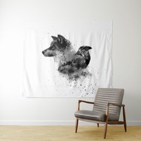 Wolf & Crow Tapestry