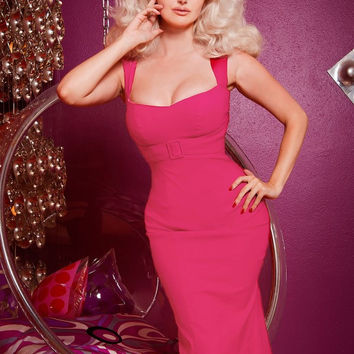 Pinup Couture Jessica Dress in Hot Pink