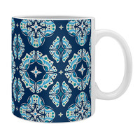 Andi Bird Butterfly Ornamental Blue Coffee Mug