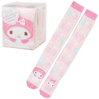 My Melody Poofy Fluffy Knee High Socks in Box SANRIO JAPAN