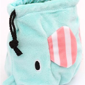 Sentimental Circus elephant plush pouch wallet cloth bag - Wallets - Accessories