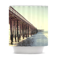 "Bree Madden ""Ventura Pier"" Shower Curtain"