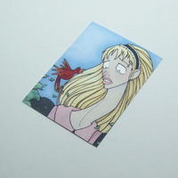 Alice in Wonderland illustration print ACEO