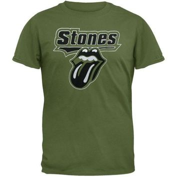 PEAPGQ9 Rolling Stones - Foil Logo Soft T-Shirt