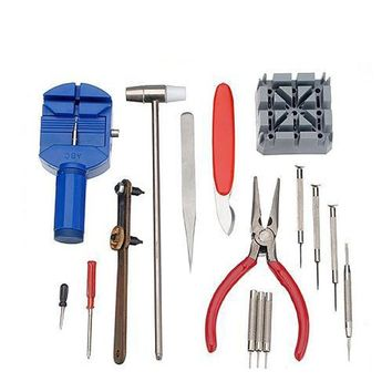 16 pcs Horologe Watch Link Remover Repair Tool Set Kit