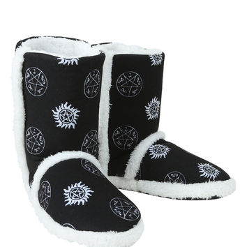 Supernatural Symbols Slipper Boot