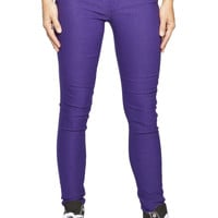 Girls Low Rise Curvy Skinny Super Stretch Jeans  - Purple - Jordan
