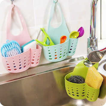PVC Kitchen Sink Shelf Rack Faucet Basket Storage Rack Kitchen Storage Sponge Holder Bathroom Accessories Organizadores
