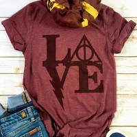 Love. Harry Potter. T-Shirt