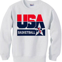 1992 NBA OLYMPIC DREAM TEAM logo sweatshirt - White
