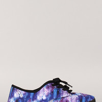 Wild Diva Lounge Marsden-01 Printed Lace Up Sneaker