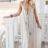 Capitola Lace Front Maxi Dress