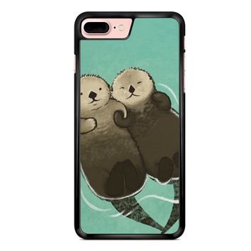 Significant Otters Otters Holding Hands iPhone 7 Plus Case