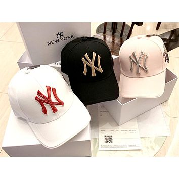 MLB street fashion men and women models embroidered letters men and women baseball caps