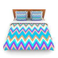 "Nika Martinez ""Girly Surf Chevron"" Lightweight Duvet Cover"