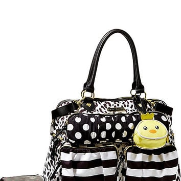 TRIPLE FRONT POCKET DIAPER BAG