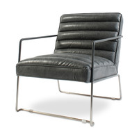 Jonas Grey Leather Chair