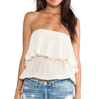 Jen's Pirate Booty Cha Cha Tube Top in Cream
