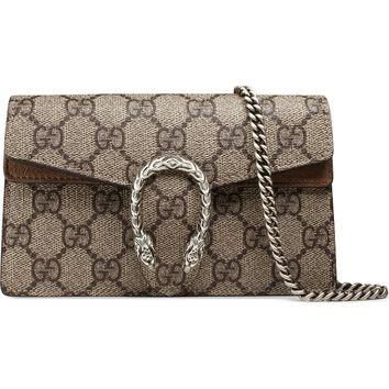 Gucci Super Mini Dionysus GG Supreme Canvas & Suede Shoulder Bag | Nordstrom