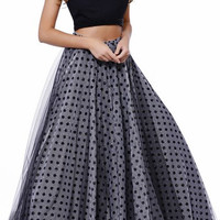 Prom Two Pieces Polka Dots Dress
