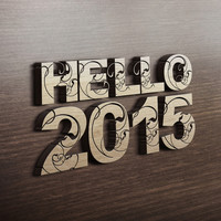HELLO 2015 ! Art Print by Nirvana.K
