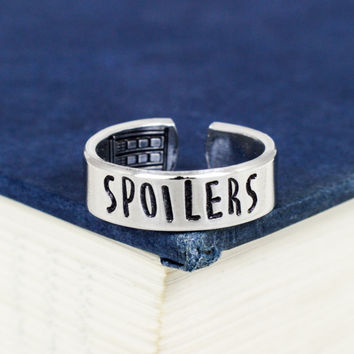 Spoilers - Doctor Who - TARDIS - Adjustable Aluminum Ring
