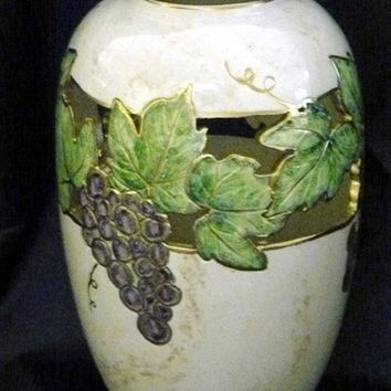 Ceramic Grapevine Vase by GrapeVineCeramicsGft on Etsy
