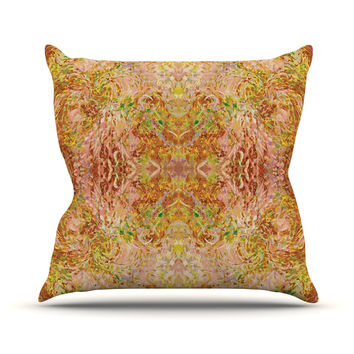 "Nikposium ""Goldenrod II"" Yellow Gold Throw Pillow"