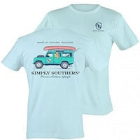 Simply Southern Unisex Jeep Tee - Blue