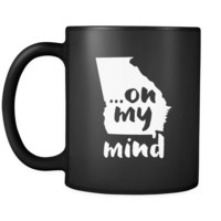 Georgia  Georgia on my mind 11oz Black Mug