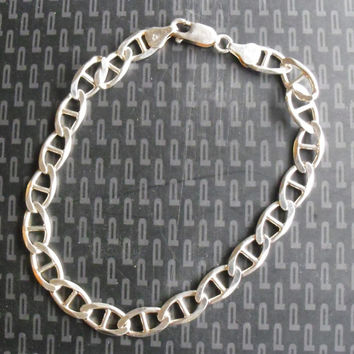 "Sterling Silver .925 Anchor Bracelet 9"" from Italy (New)"